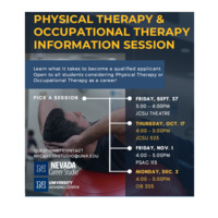 Pre- PT/OT Information Sessions