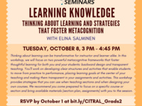 Learning Knowledge: Thinking About Learning and Strategies That Foster Metacognition