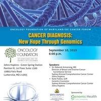 Cancer Diagnosis: New Hope Thrugh Genomics