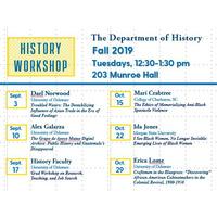 History Workshop - History Faculty Moderators