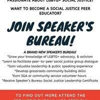 Speaker's Bureau - Social Justice Peer Educators Info Session
