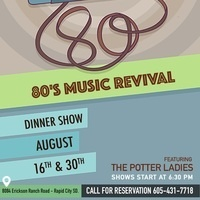 Potter Ladies 80s Music Revival Dinner Show