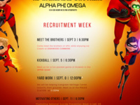 Alpha Phi Omega Interest Events