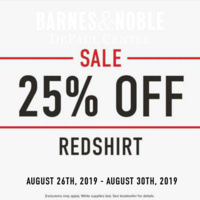 25% Off Entire Stock of Redshirt Clothing