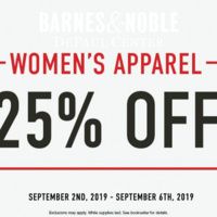 25% Off Entire Stock of Women's Clothing