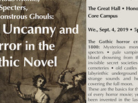Pale Vampires, Mysterious Monks, Scary Specters, and Monstrous Ghouls: The Uncanny and Horror in the Gothic Novel.