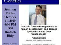 MBG Friday Seminar: Alex Kentsis - Somatic DNA rearrangements in human development and disease by domesticated DNA transposases
