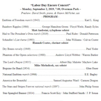 Labor Day Encore Concert