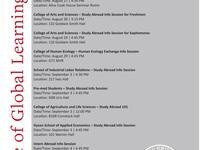 College of Arts and Sciences - Study Abroad Info Session for Sophomores