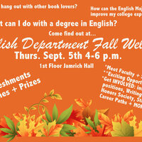 You're Invited: English Department Fall Welcome & Info Fair