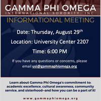 Gamma Phi Omega International Sorority Incorporated Informational Meeting