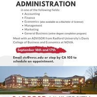 Radford University College of Business & Economics Advising Appointments