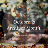 October is Archives Month! Reception & Exhibit Opening