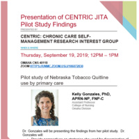Presentation of CENTRIC JITA Pilot Study Findings
