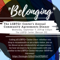 """""""Belonging"""": The LGBTQ Center's Annual Community Agreements Dinner"""