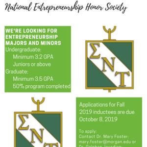 Sigma Nu Tau Fall 2019 Applicant Submission Deadline