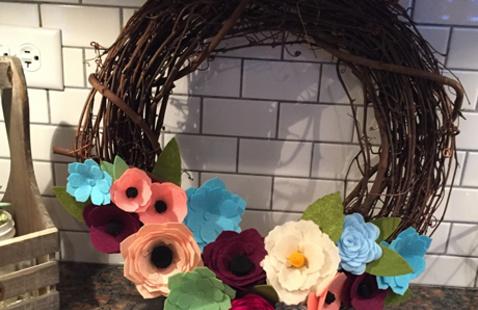 Make a Felt Flower Wreath