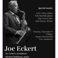 Faculty Recital Series: Joe Eckert, saxophone. Accompanied by Michael Bukhman, piano