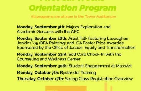 First Six Weeks Orientation: Student Engagement at MassArt