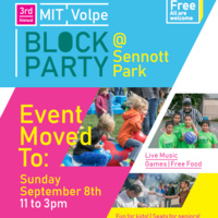 RAIN DATE: 3rd Annual MIT Volpe Block Party