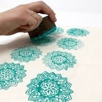 Block Print a Pair of Pillows