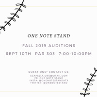 One Note Stand A Cappella Auditions