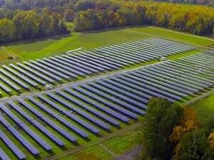 aerial view of 2.27MW solar array