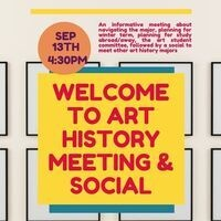 Welcome to Art History Meeting and Social