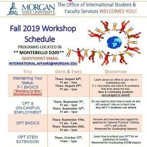 Fall 2019 International Student & Faculty Workshops: OPT STEM Extension