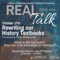 Real Talk Series - Rewriting our History Textbooks | Multicultural Affairs
