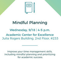 ACE Mindful Planning Workshop