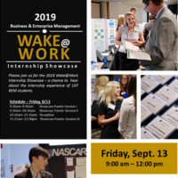 Business & Enterprise Management, Wake@Work, Internship Showcase