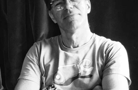Filmmaker Steve Cooper workshop in library exhibition space
