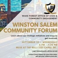 Winston Salem Community Forum