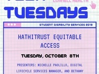 Tech Tuesday: HathiTrust Equitable Access