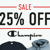 25% Off Champion Apparel