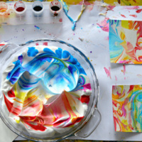 Kids Paper Marbling Workshop