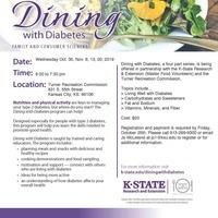 Registration Deadline- Fall Dining with Diabetes Classes