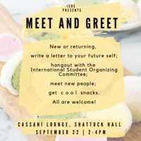 Meet & Greet with the International Student Organizing Committee