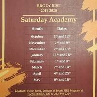 Brody RISE Saturday Academy 2019-2020