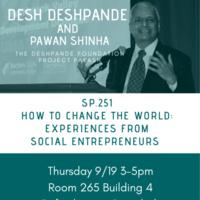 Speaker: Desh Deshpande and Pawan Sinha