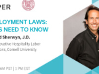 Labor & Employment Laws Webinar: What Hotels Need to Know featuring David Sherwyn