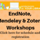 Workshops @ Your Library: Getting Started with Zotero