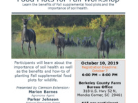 Food Plots for Fall Workshop