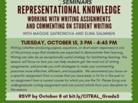 Representational Knowledge: Working with Writing Assignments and Commenting on Student Writing