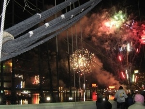 NEW YEAR'S EVE DECK PARTY ONBOARD THE USS CONSTELLATION