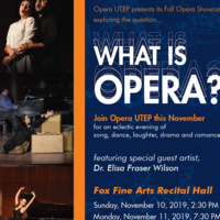 Fall Opera Showcase: WHAT IS OPERA?