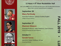 Latina/o Studies Fridays w/Faculty Seminar