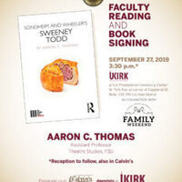 Faculty Reading and Book Signing with Theatre's Aaron Thomas