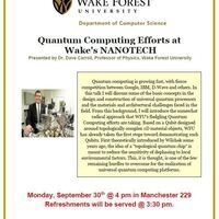 Quantum Computing Efforts at Wake's NANOTECH